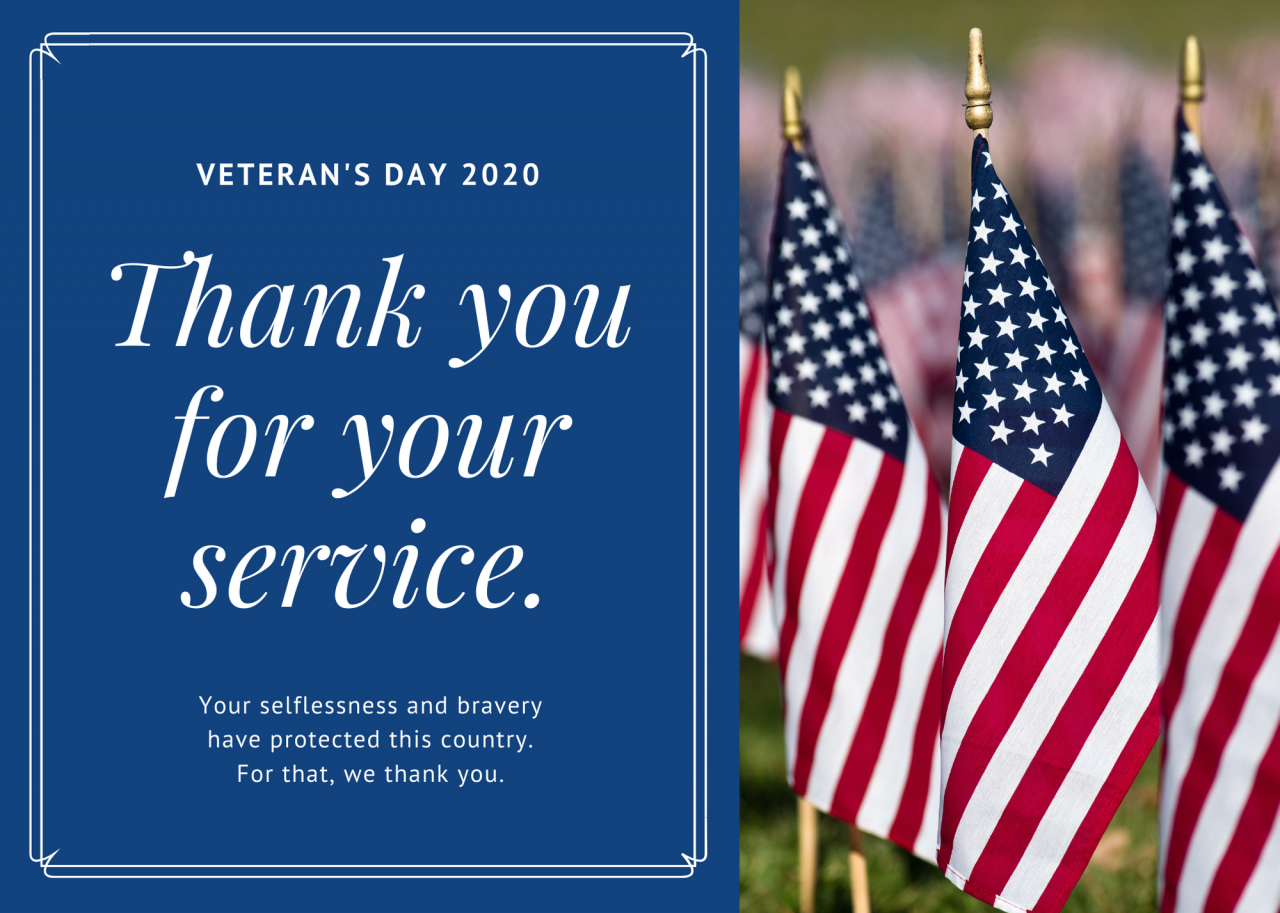 Blue-Bordered-Photo-Greeting-Veterans-Day-Card